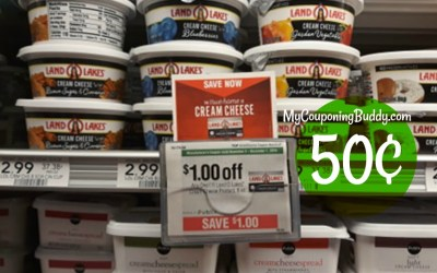 Land O Lakes Cream Cheese 50¢ Publix