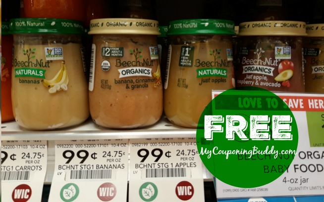 Beech-Nut Organic Baby Food FREE at Publix
