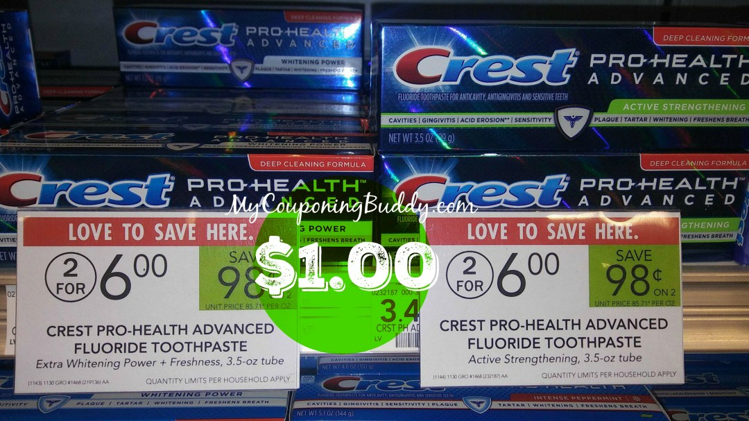 Crest toothpaste publix