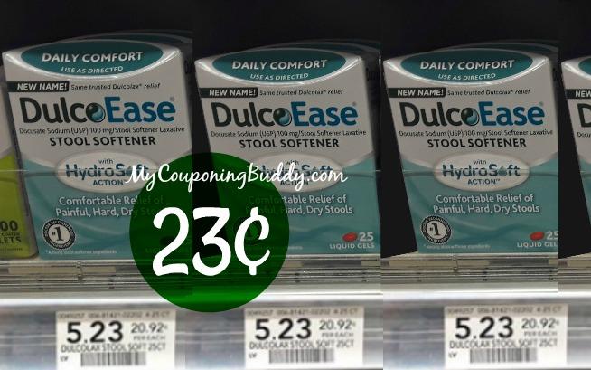 Dulcoease stool softener 23¢ at Publix