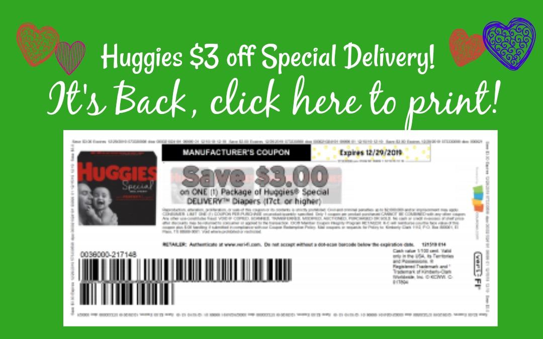 Huggies 3 Off Printable Coupon Is Back My Publix Coupon Buddy