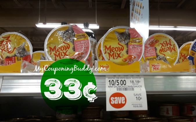 Meow Mix Wet Cat Food 33¢ at Publix