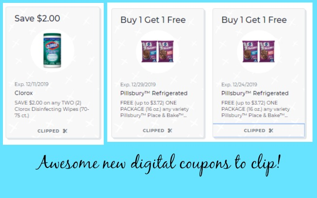 New Publix digital coupons to clip! BOGO Pillsbury