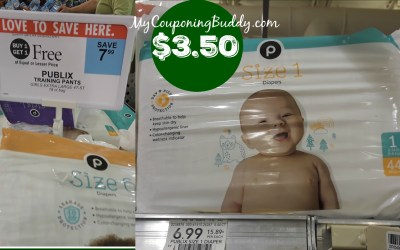 Publix Diapers or Training Pants as low as $3.50