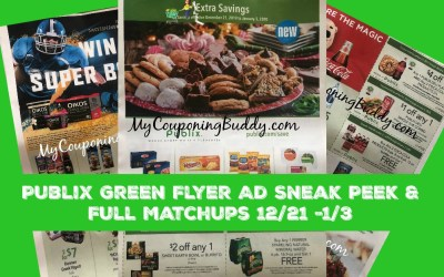 Publix Green Flyer Ad Sneak Peek & Full Matchups 12/21 -1/3