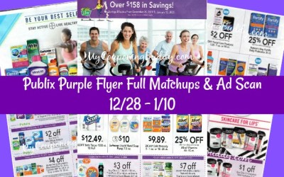 Publix Purple Flyer Full Matchups & Ad Scan 12/28 – 1/10