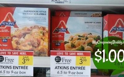 Atkins Frozen Dinners $1 at Publix