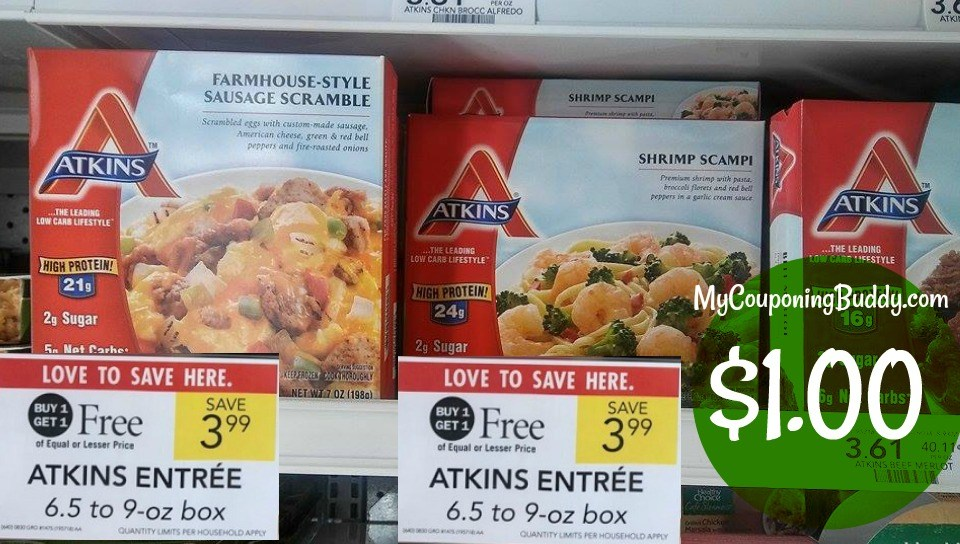 Atkins Entrees as low as $1 at Publix
