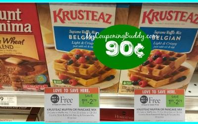 Krusteaz Pancake Mix as low as 90¢ at Publix