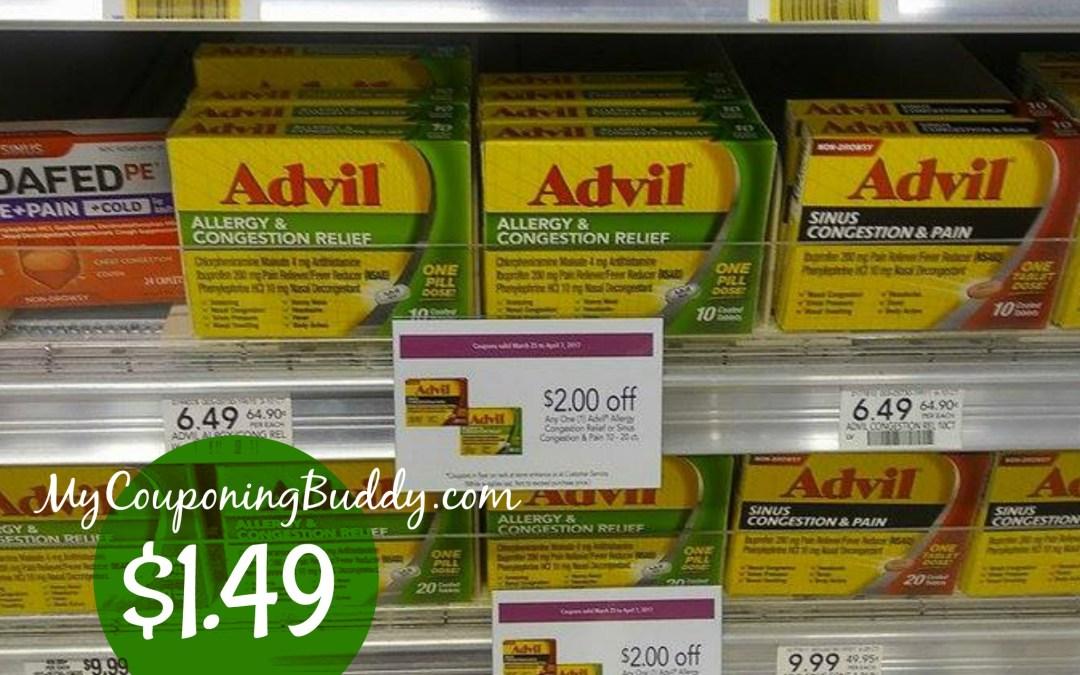 Advil Congestion Relief $1.49 at Publix