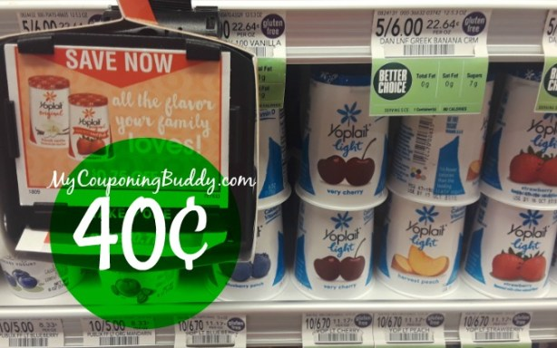 Yoplait Yogurt Cups 40¢ at Publix