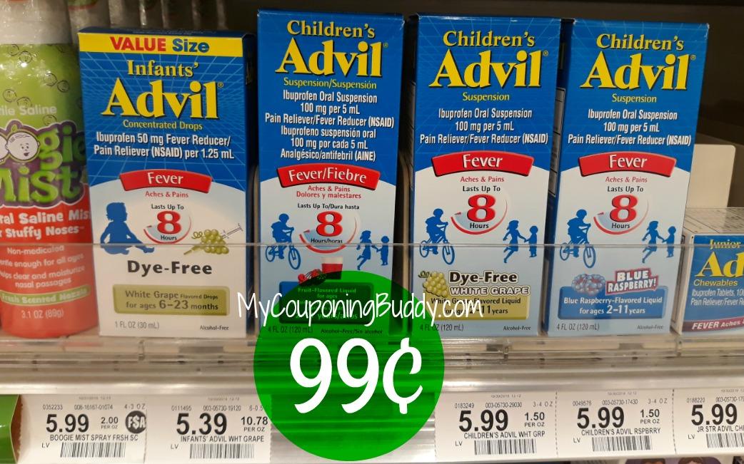 Children's Advil 99¢ at Publix