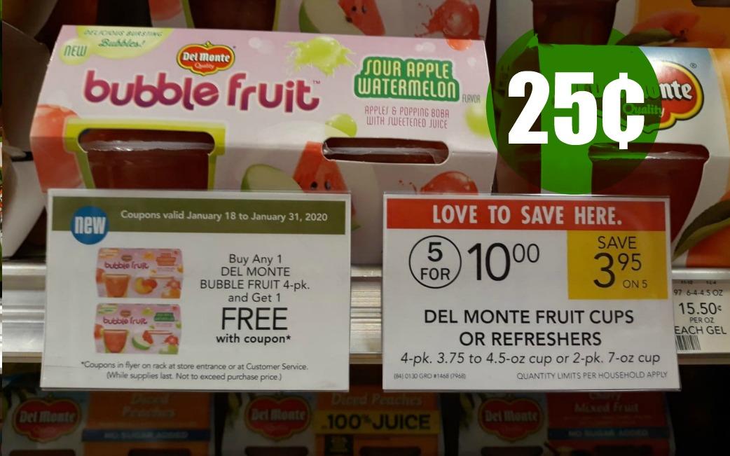 Del Monte Bubble Fruit Publix