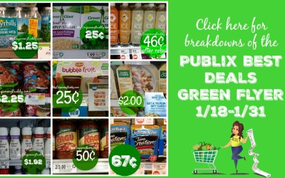 Publix Green Flyer Best Deals 1/18 to 1/31
