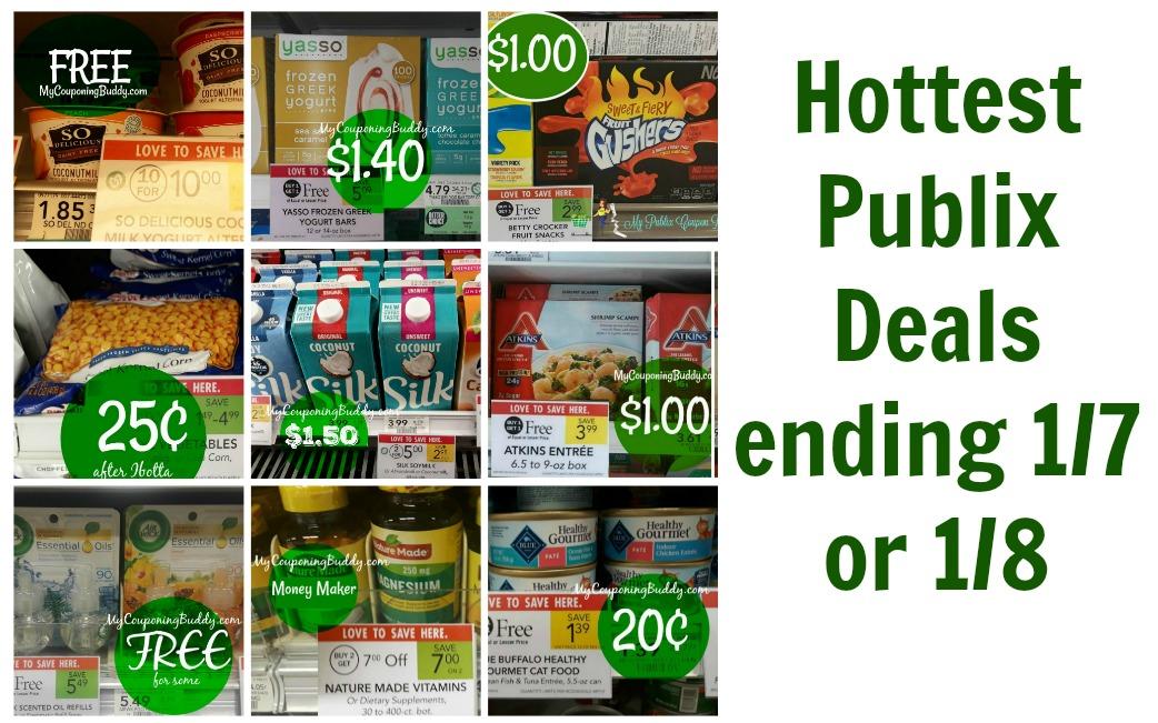 Hottest Publix Deals ending 1-7 or 1-8