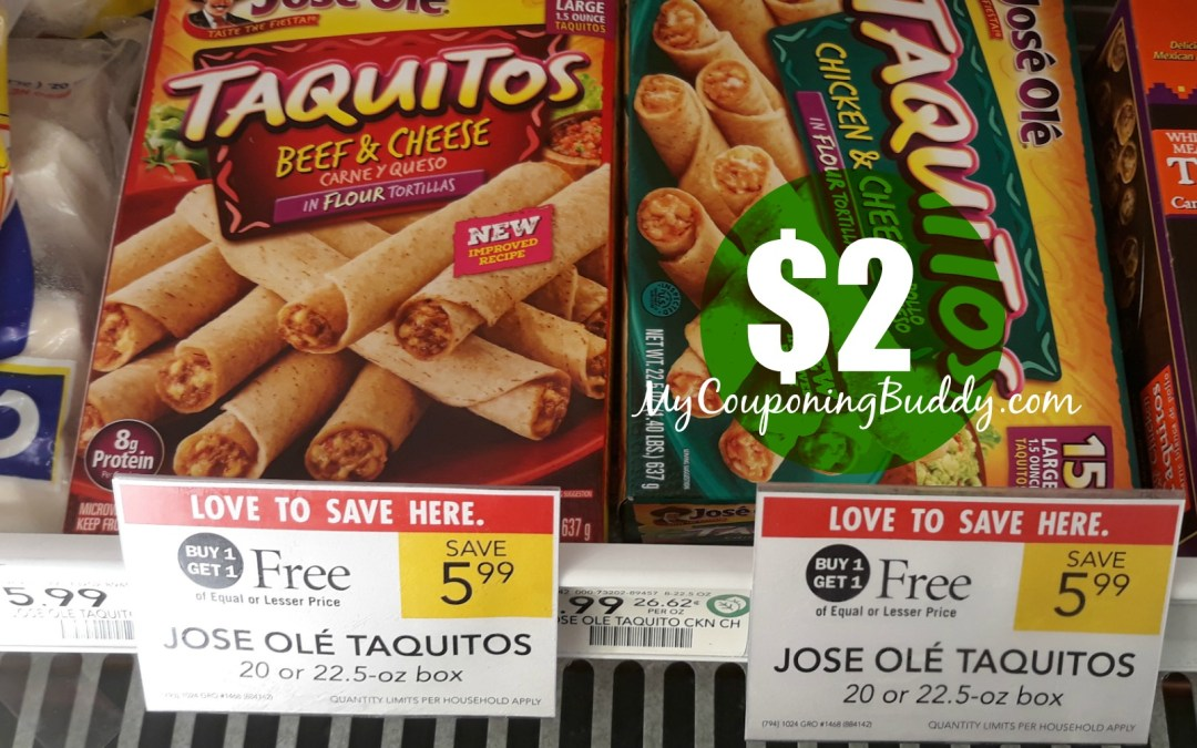 Sneak Peek Publix Weekly Sale 1/29-2/4 or 1/30-2/5 Jose Ole Taquitos $2 at Publix