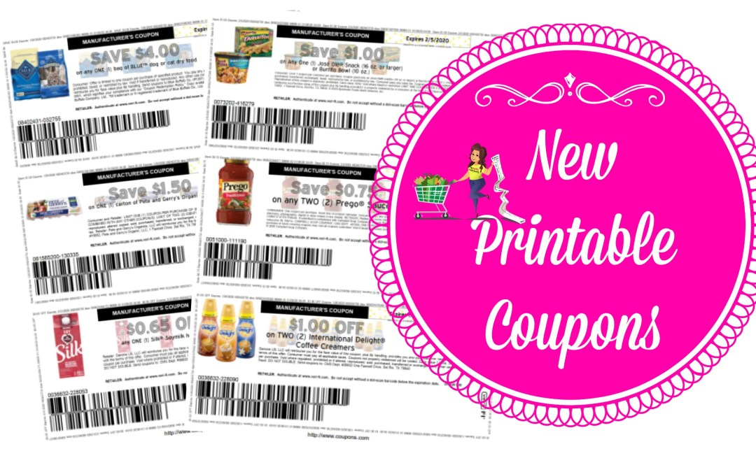 New Printable Coupons Blue, Prego, International Delight