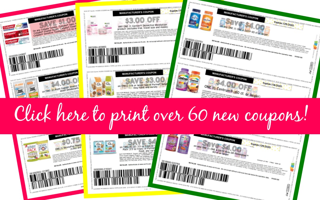 Click here and Print ~ Over 60 New Printable Coupons