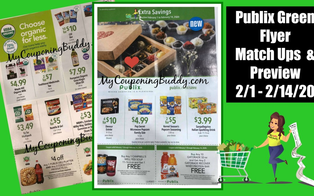 Publix Green Flyer Coupon 2/1 - 2/14/20