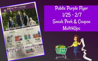 Publix Purple Flyer 1/25 – 2/7 Sneak Peek & Coupon MatchUps