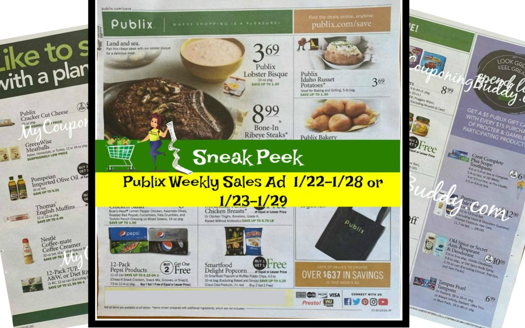 Publix Weekly Ad Preview 1/23/20 – 1/29/20 (or 1/22-1/28/20)