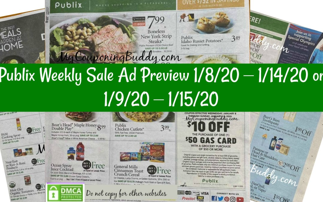 Publix Weekly Sale Ad Preview 1/8/20 – 1/14/20 or 1/9/20 – 1/15/20