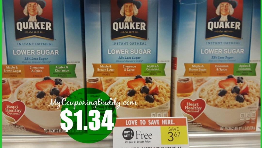 Quaker instant oatmeals Publix