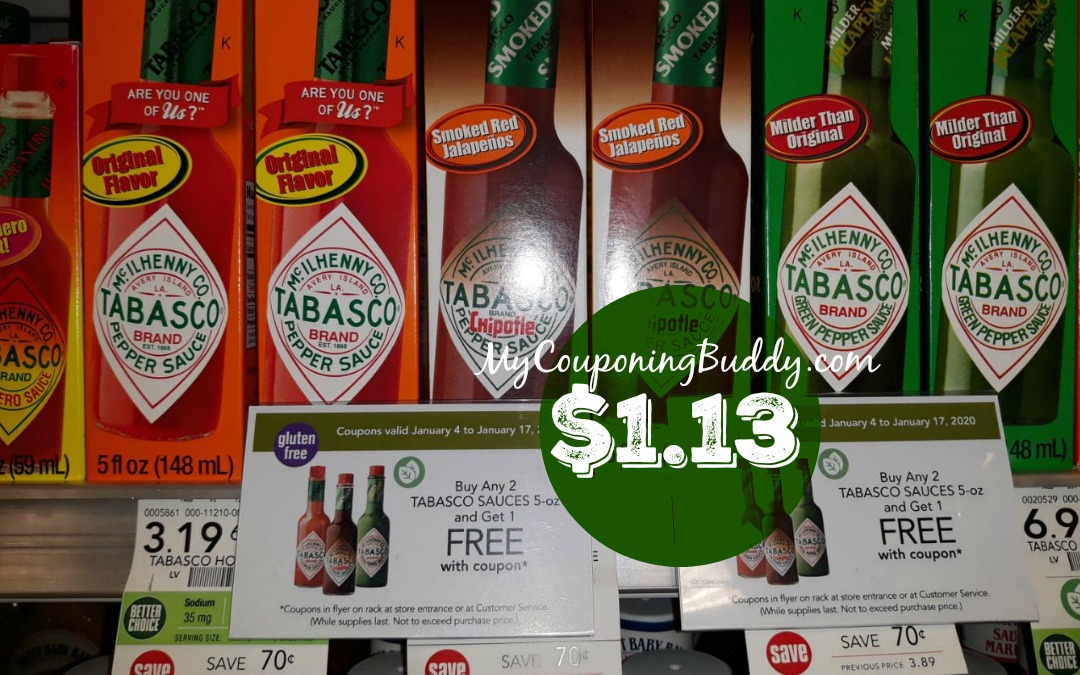 Tabasco Sauce $1.13 at Publix