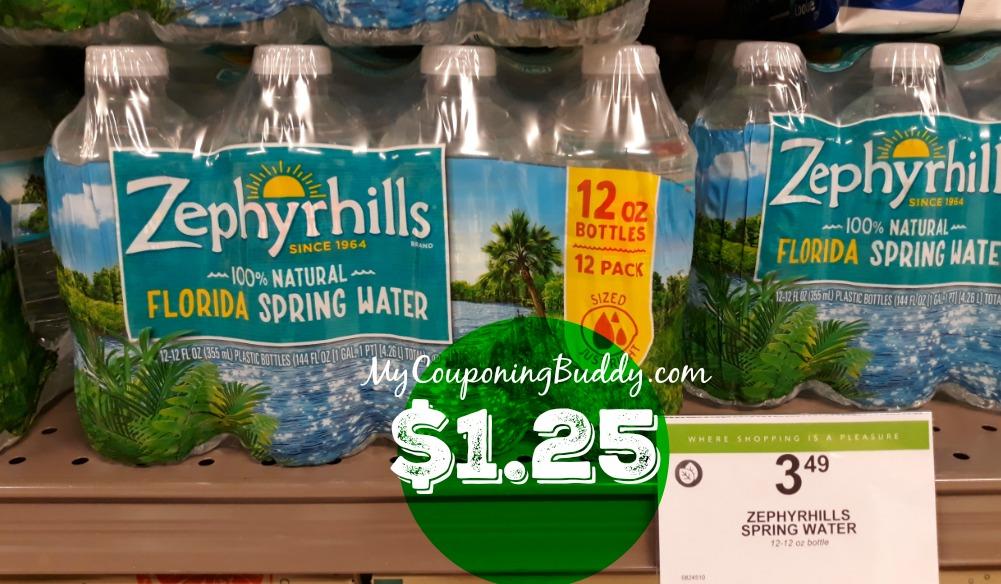 Zephyrhills or Deer Park Brand Publix