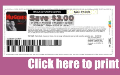 $3/1 Huggies Special Delivery Diapers Printable Coupon