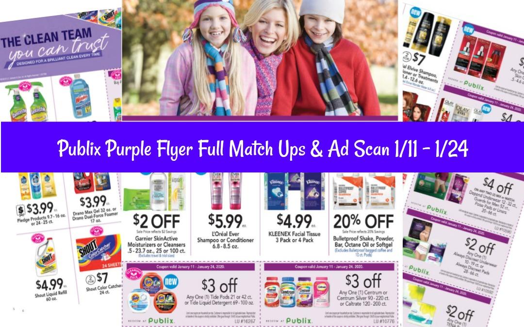 Publix Purple Flyer Full Match Ups 1/11 - 1/24