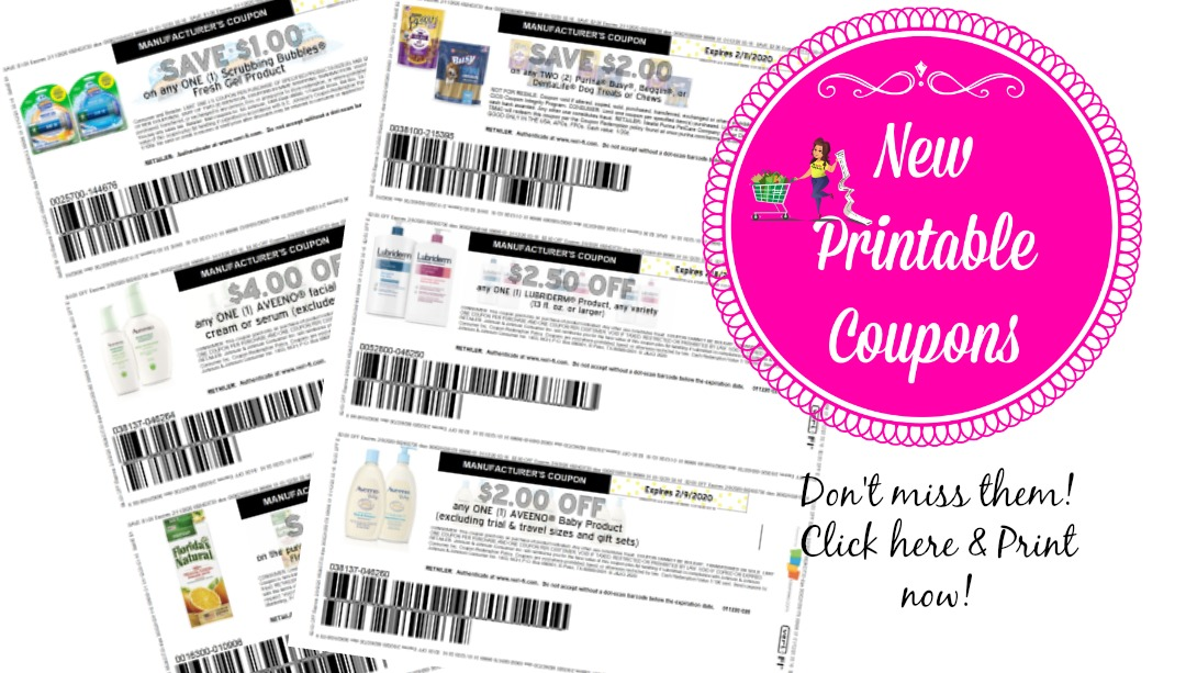 New Printable Coupons Scrubbing Bubbles, Aveeno