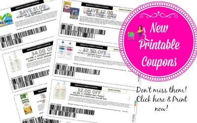 New Printable Coupons ~ Scrubbing Bubbles, Aveeno and more