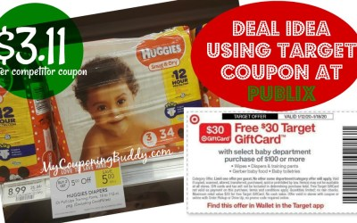 Huggies Deal Idea at Publix (Using Target Competitor Coupon)