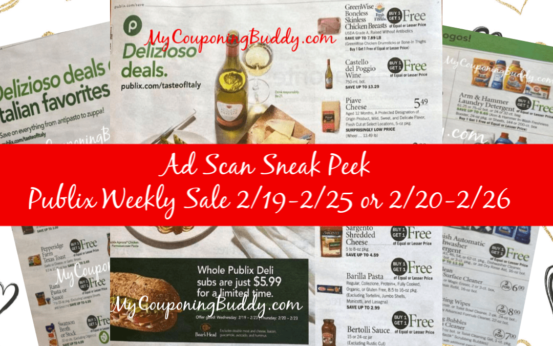 Ad Scan Sneak Peek Publix Weekly Sale 2/19-2/25 or 2/20-2/26 Ad Preview