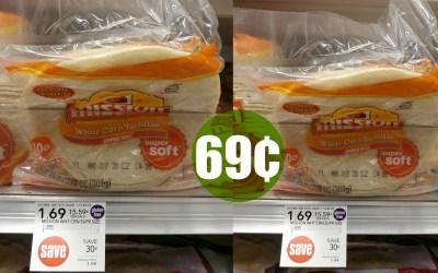 Mission Corn Tortillas  10 ct. 69¢ at Publix