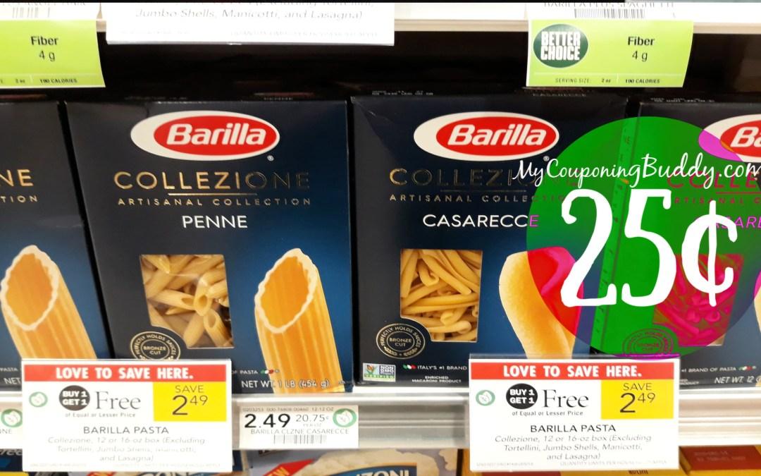 BarillaCollezione Pasta 25¢ at Publix
