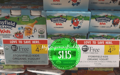 Coupon reset ~ Stonyfield Organic Kids Yogurt $1.15 at Publix