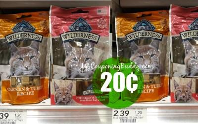 Blue Cat Treats 20¢ at Publix
