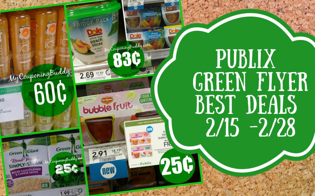 Publix Green Flyer Best Deals 2/15 -2/28