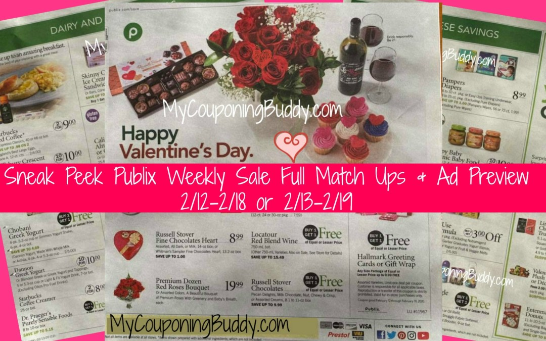 Sneak Peek Publix Weekly SaleFull Match Ups & Ad Preview 2/12-2/18 or 2/13-2/19