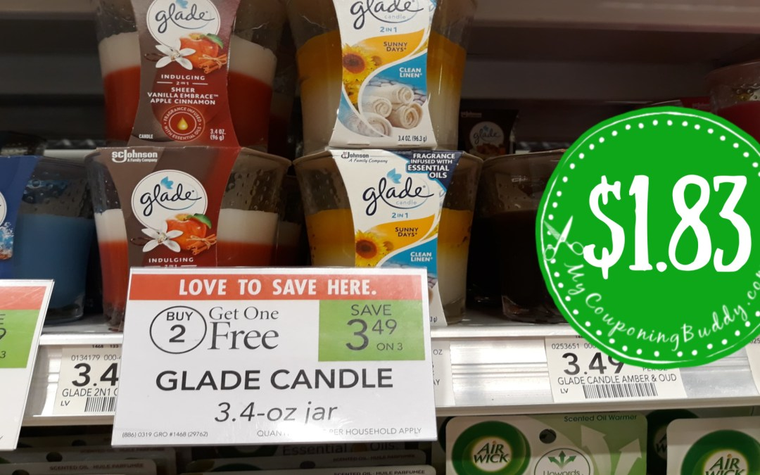 Glade candles couponing deal Publix