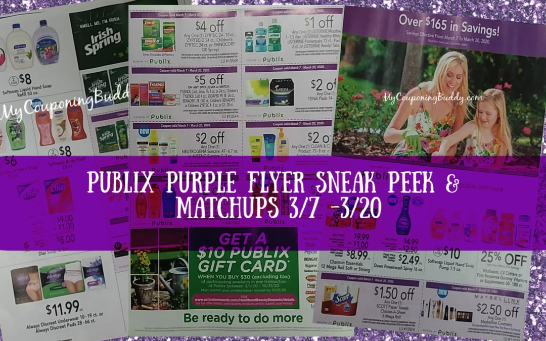 Publix Purple Flyer Coupon 3/7 - 3/20