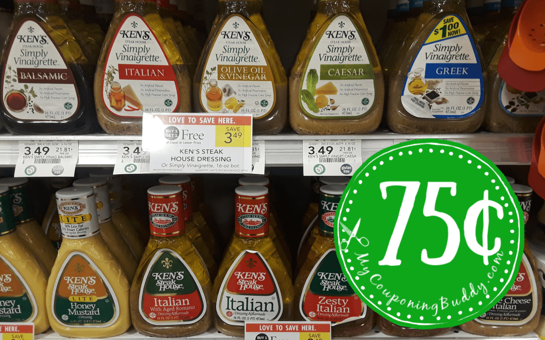 Ken's Salad Dressing 75¢ at Publix