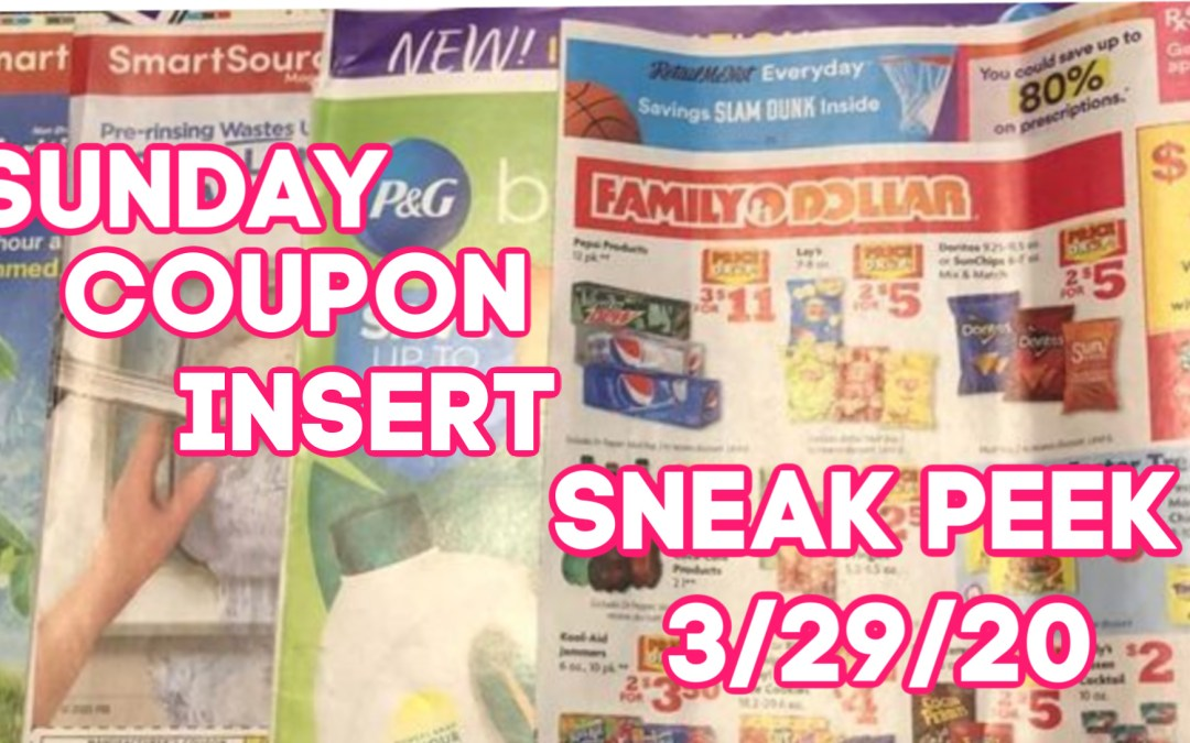 Sunday Coupon Insert Sneak Peek 3/29/20