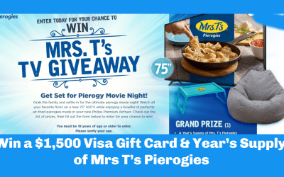 Enter to Win a $1,500 Visa Gift Card & Year's Supply of Mrs T's Pierogies