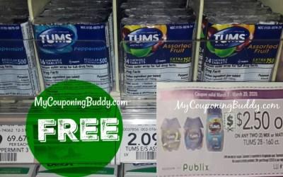 FREE Tums 3pk at Publix
