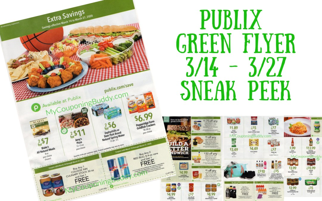 Publix Green Flyer Sneak Peek 3/14 – 3/27