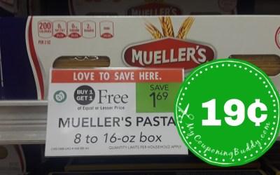 Mueller's Pasta 19¢ at Publix (after Ibotta rebate)