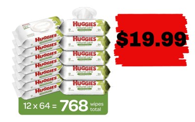 12 pks of Huggies Wipes for $19.99!